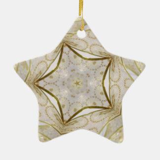 Elegant Gold Kaleidoscope Star Ceramic Star Decoration