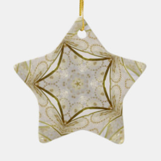 Elegant Gold Kaleidoscope Star Christmas Ornament