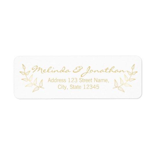 Elegant Gold Laurels Wedding