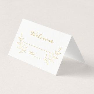 Elegant Gold Laurels Wedding Place Card