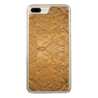 Elegant Gold Leaf Carved iPhone 8 Plus/7 Plus Case