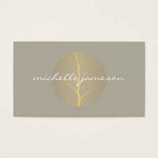 Elegant Gold Leaf Logo on Tan