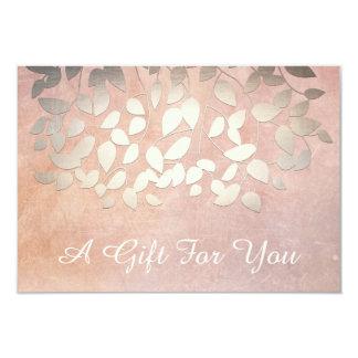Elegant Gold Leaves Salon and Spa Gift Certificate 9 Cm X 13 Cm Invitation Card
