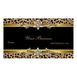 Elegant Gold Leopard Black Elegant Pack Of Standard Business Cards
