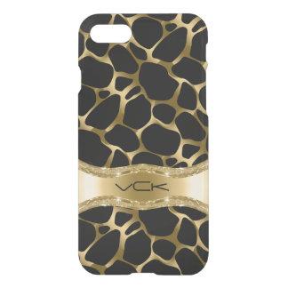 Elegant Gold Leopard On Black iPhone 7 Case