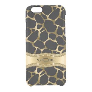 Elegant Gold Leopard Print On Black iPhone 6 Plus Case