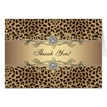 Elegant Gold Leopard Thank You Cards