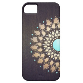 Elegant Gold Lotus Flower Wood Stylish Floral iPhone 5 Covers