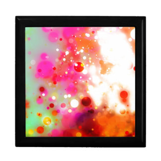Elegant Gold Luxe Red Pink White Green Watercolor Large Square Gift Box