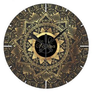 Gold Wall Clocks Zazzle Uk