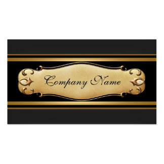 Elegant Gold Metal Black Business Business Card