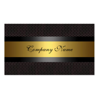 Elegant Gold Metal Black White Double-Sided Standard Business Cards (Pack Of 100)