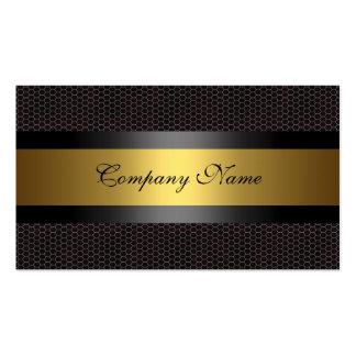 Elegant Gold Metal Black White Pack Of Standard Business Cards