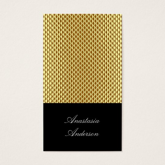 Elegant Gold Metal Profile Card