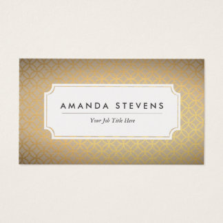 Elegant Gold Metallic Business Cards