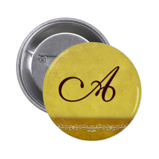 Elegant gold monogram - customize your own pins