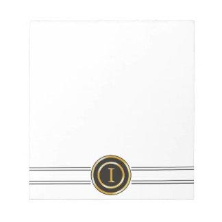 Elegant Gold Monogram I Notepad