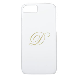Elegant Gold Monogram iPhone 8/7 Case