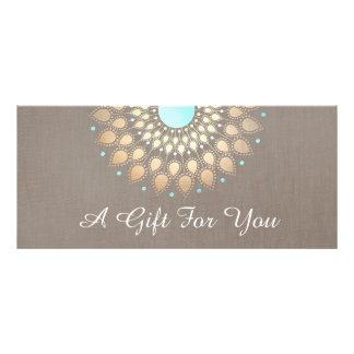 Elegant Gold Ornate Lotus Mandala Gift Certificate