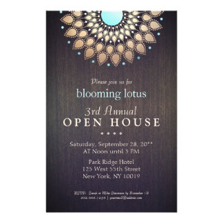 Elegant Gold Ornate Lotus Mandala Wood Event Flyer