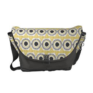 Elegant Gold Ornate Triangle & Circle Pattern Commuter Bags