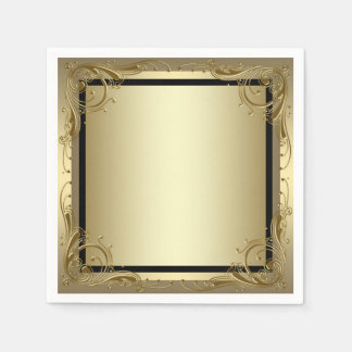 Elegant Gold Paper Serviettes