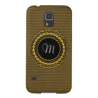 Elegant Gold Personalizable Monogram Case For Galaxy S5