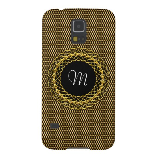 Elegant Gold Personalizable Monogram Galaxy S5 Covers