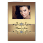 Elegant Gold Photo Thank You Cards