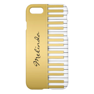 Elegant Gold Piano Keyboard Music iPhone 7 Case
