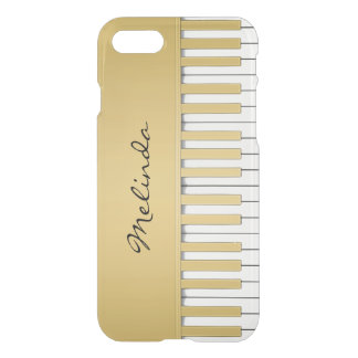 Elegant Gold Piano Keyboard Music iPhone 8/7 Case