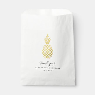 Elegant Gold Pineapple Wedding Favour Bags