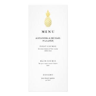 Elegant Gold Pineapple Wedding Menu