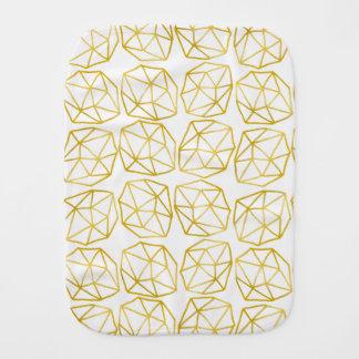 Elegant Gold Polygonal Unique Geometric Pattern Burp Cloth