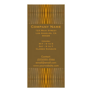 elegant gold rack card