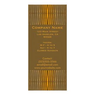 elegant gold full color rack card