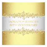 Elegant Gold Roses 50th Anniversary Party Personalized Invites