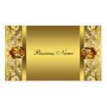 Elegant Gold Scroll Business Card Template