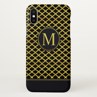 Elegant Gold Seamless Monogram | iPhone X Case
