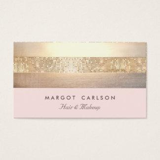 Elegant Gold Sequins Light Pink Striped *NO SHINE