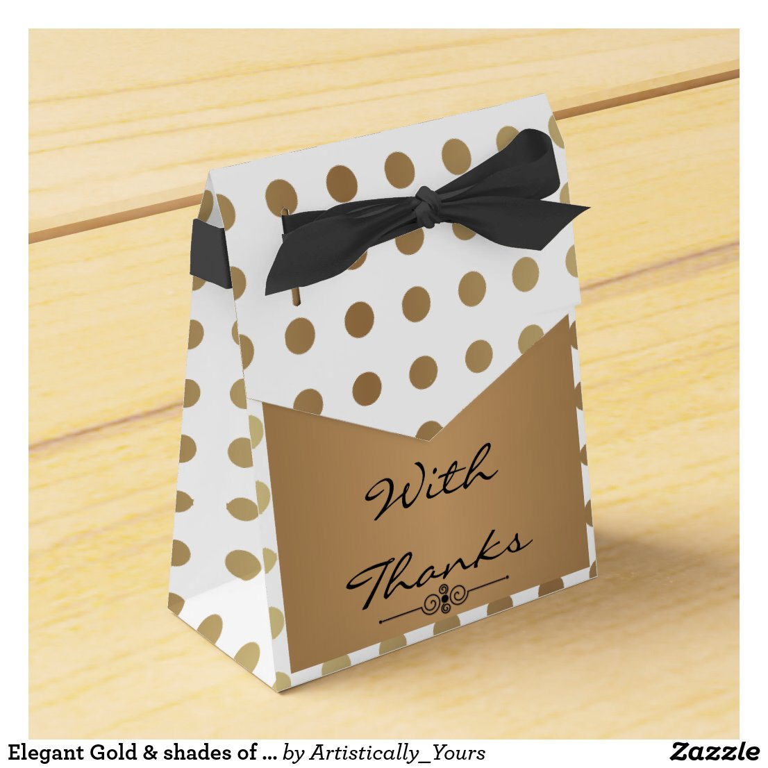 Elegant Gold & shades of Grey Favour Box