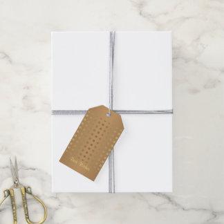 Elegant Gold & shades of Grey Gift Tags