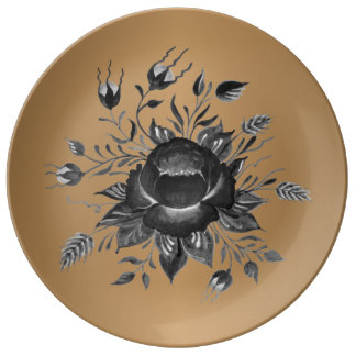 Elegant Gold & shades of Grey Plate