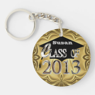 Elegant Gold & Silver Class Of 2013 Keychain
