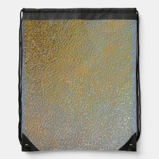Elegant Gold Silver Pitted Metal Texture Look Drawstring Bags