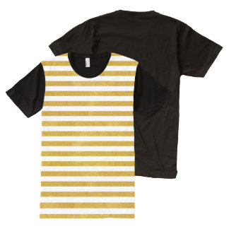 Elegant Gold Stripe -Custom Your Color- All-Over Print T-Shirt