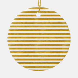 Elegant Gold Stripe -Custom Your Color- Christmas Ornament