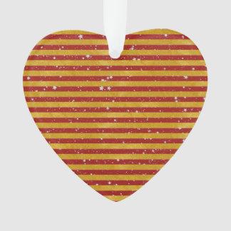 Elegant Gold Stripe -Custom Your Color- Ornament