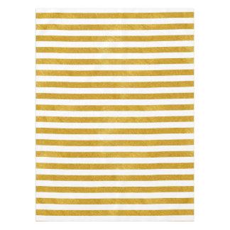 Elegant Gold Stripe -Custom Your Color- Tablecloth