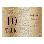 Elegant Gold Swirls Black Font Table Numbers